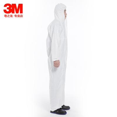 Trang phục bảo hộ Quần áo bảo hộ dùng một lần 3M có mũ thử nghiệm sản xuất quần áo chống bụi quần áo