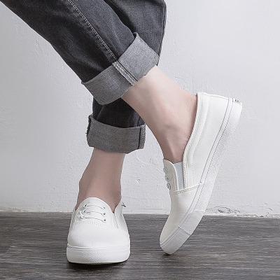 giày vải Giày vải nam Yao Yao thấp để giúp học sinh đi giày thể thao màu trắng hoang dã Hàn Quốc giả