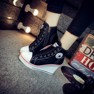 giày bánh mì / giày Platform Mùa xuân và mùa thu 2019 Phiên bản Hàn Quốc của giày vải cao cấp nữ muf