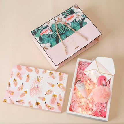Xiuxiu Hộp giấy bao bì Hộp quà tặng với tay quà tặng tùy chỉnh tinh tế hộp trống sáng tạo hộp quà tặ