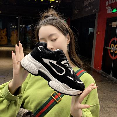 giày bánh mì / giày Platform 2019 giày cũ mới cho nữ mùa thu thủy triều hoang dã giày nữ thời trang