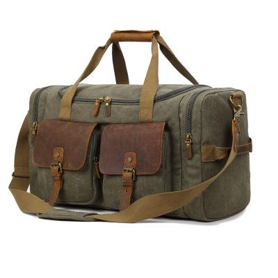 Túi xách du lịch Bảy màu cotton công suất lớn xách tay đeo chéo túi vải túi xách hành lý du lịch vai