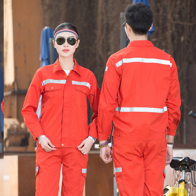 Trang phục chống cháy Vệ sinh đường xám dải phản quang mỏng áo dài tay nam và nữ bảo hiểm lao động q