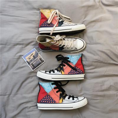 giày vải Giày cao gót phong cách quốc gia giày nam phiên bản Hàn Quốc mùa xuân và mùa hè Học sinh vă