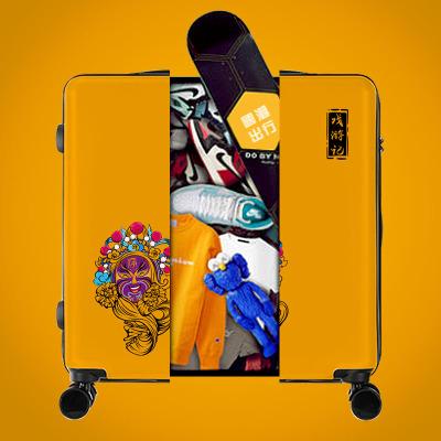 VaLi hành lý Tide thương hiệu mạng lưới xe đẩy màu đỏ Guochao ban đầu sáng tạo đám cưới hip hop du l