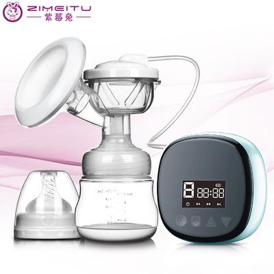 ZIMEITU Bình hút sữa Purpleberry thỏ máy hút sữa câm Máy bơm sữa có thể sạc lại thiết bị vắt sữa