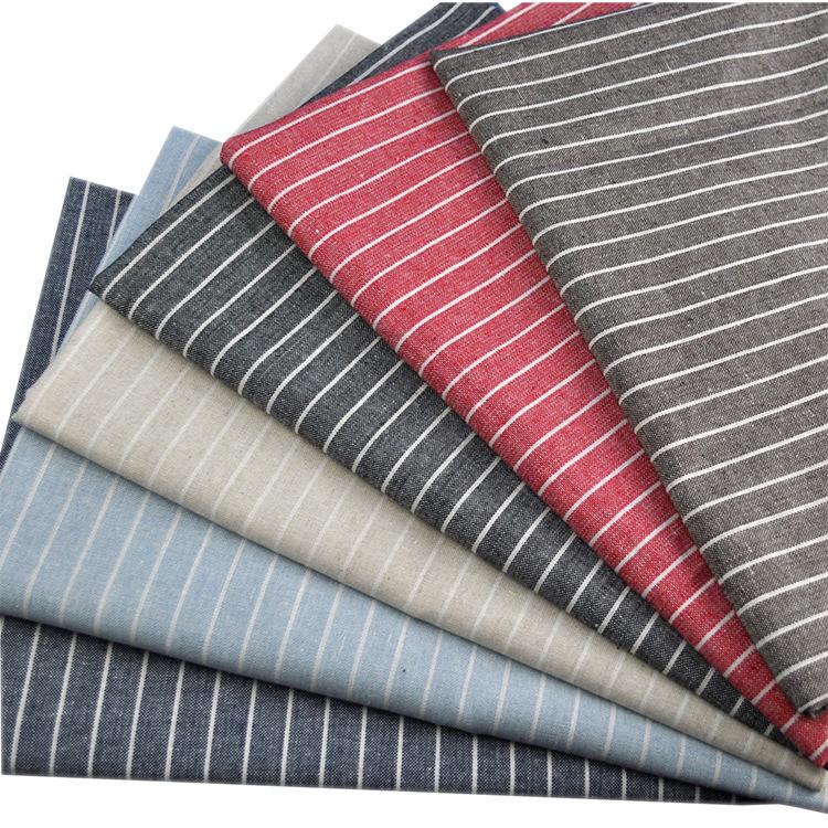JINYUAN Vải cotton pha polyester Nguồn nhà sản xuất Quần áo Vải polyester Cotton và vải lanh sọc pha