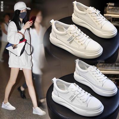 Giày trắng nữ Giày nữ mùa thu 2019 mới phiên bản Hàn Quốc của đôi giày trắng dày hoang dã thể thao c