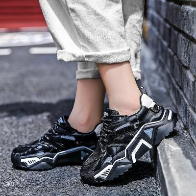 Giày tăng chiều cao Giày cũ nữ 2019 mới đầu thu phổ biến Giày nữ phổ biến đầu tròn tăng dày đế giày