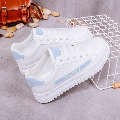 Giày trắng nữ Giày nữ nhỏ màu trắng 2019 xuân mới phiên bản Hàn Quốc của những đôi giày thể thao dày