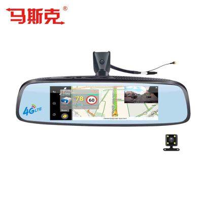 Chó rôbôt Gương chiếu hậu 8 inch 4G ghi âm lái xe đảo ngược 1080P điều khiển giọng nói ADAS Thiết bị