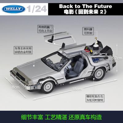Mô hình xe WELLY Willy 1:24 bộ phim Người chơi số 1 Trở về tương lai Quà tặng mô hình xe hợp kim mô