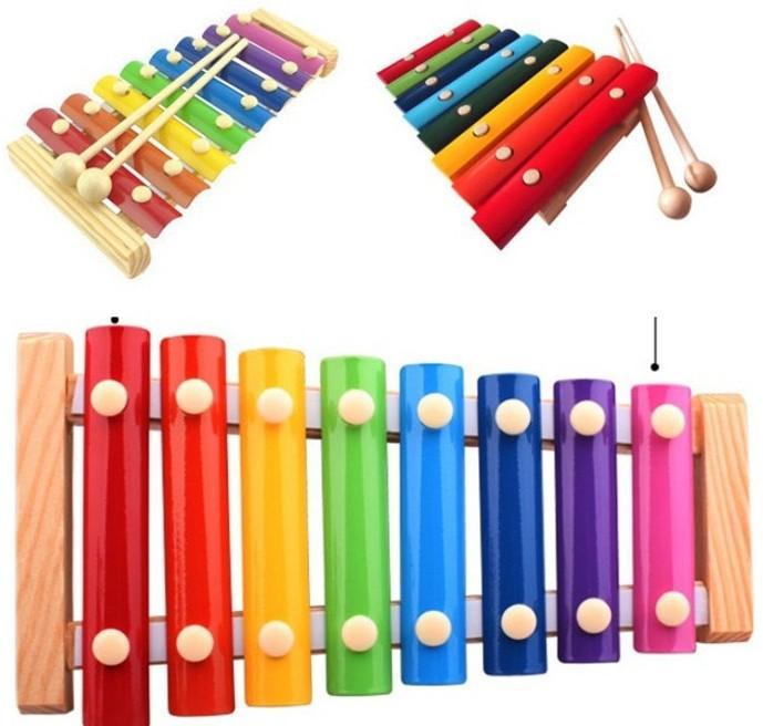 Đồ giảng dạy trẻ sơ sinh Đồ chơi giáo dục cho trẻ em bằng gỗ gõ tay trên đàn piano Đánh đàn xylophon