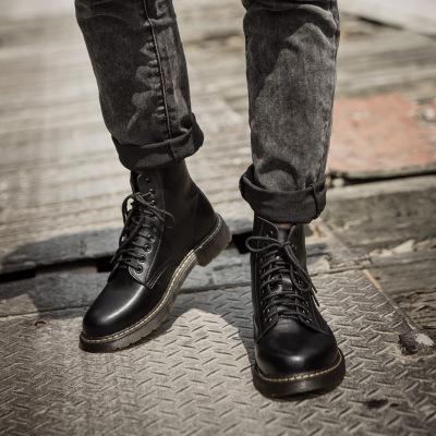 Giày tăng chiều cao Mùa thu và mùa đông mới 46 47 48 đôi giày da nam cực rộng phía trước Giày công c