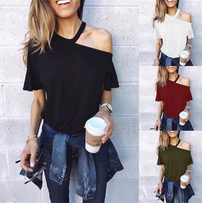 áo thun Quần áo xuyên biên giới mới của phụ nữ châu Âu và Mỹ ebay Amazon AliExpress mẫu nổ Áo thun l