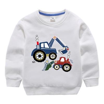 Thị trường trang phục trẻ em Quần áo trẻ em Hàn Quốc thuần khiết cho bé trai mùa thu áo cotton hoạt
