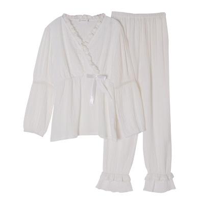 Trang phục trong tháng (sau sinh) [Yuezi mẹ 2008] Chất liệu vải cotton nhăn một lớp phù hợp với mùa