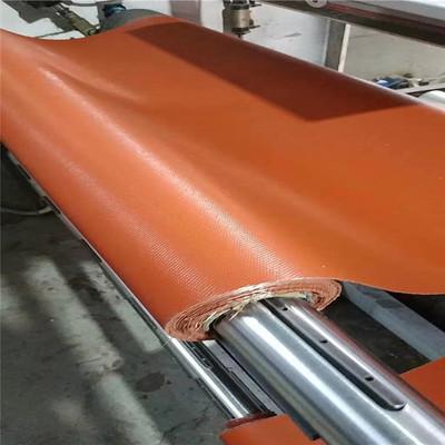 Thảm chữa cháy  Nhà máy bán buôn Vải chịu lửa silicon chịu nhiệt cao Vải silicon đỏ kết nối mềm mại