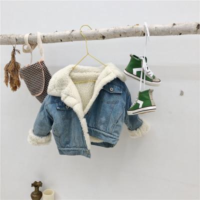 Áo khoác trẻ em Quần áo trẻ em Hàn Quốc 2019 mùa thu và mùa đông mới bé trai và bé gái lamb cashmere
