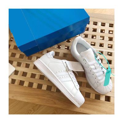 Giày trắng nữ Đầu nhiều màu vỏ cổ điển (tiêu chuẩn gốc) mẫu giày nam Giày nữ thấp để giúp giày sinh