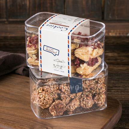 PAMPAS  Thị trường bao bì nhựa Hộp khô Bánh quy tràm gói bánh quy hộp trong suốt ps hộp nhựa cứng