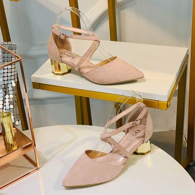 Giày GuangDong Giày nữ Huidong 2019 ngoại thương mùa thu mới ngọt ngào gió tiệc hoang dã Giày nữ bá