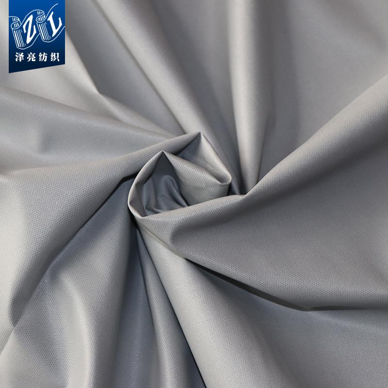 ZELIANG Vật liệu tổng hợp Nhà máy trực tiếp 228T polyester taslon lá màng ngoài trời áo khoác vải co