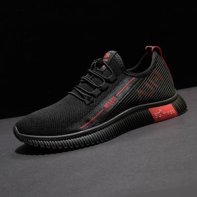 Giày lưới Giày nam mới 2019 Giày nam đế xuồng mùa hè thoáng khí dệt lưới màu đen Giày thể thao Giày