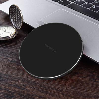Đầu cắm sạc Sạc không dây siêu mỏng mới Bộ sạc không dây hợp kim nhôm tròn QI cho sạc nhanh iphone8X