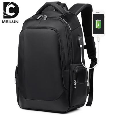 VaLi hành lý Ba lô nam Hàn Quốc giản dị USB nam ba lô thoáng khí đeo túi kinh doanh máy tính túi du