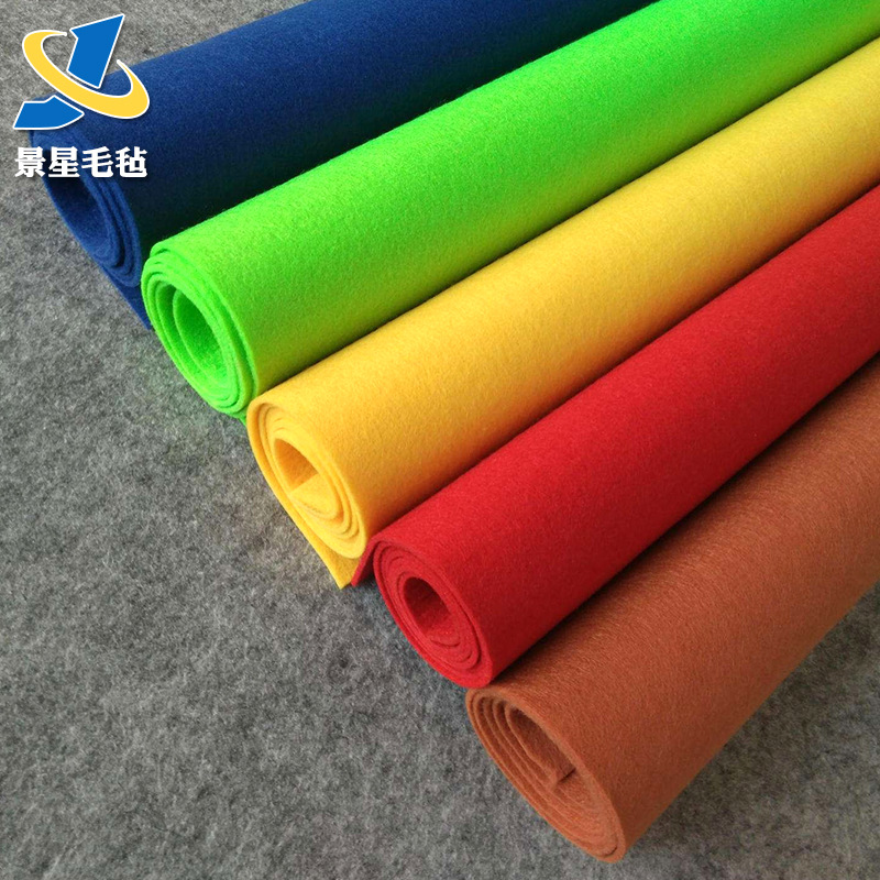 JINGXING thảm lông Tùy chỉnh thủ công tự làm màu nền polyester kim cảm thấy Màu dày không dệt sợi hó