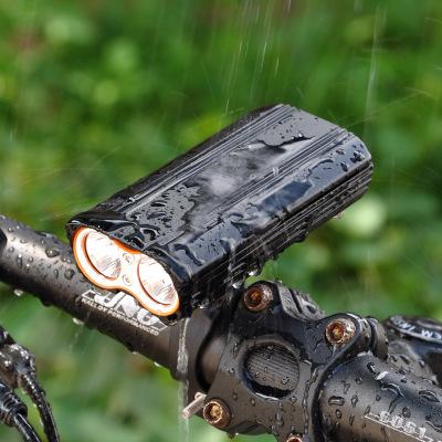 Đèn xe Đèn pha xe đạp T6 độ sáng cao usb sạc cưỡi đèn xe đạp leo núi đèn mạnh đèn pha không thấm nướ