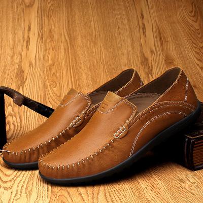 Giày mọi đế thấp Giày nam cỡ lớn Amazon giày da đậu Hà Lan Giày nam lái giày bình thường giày da thế