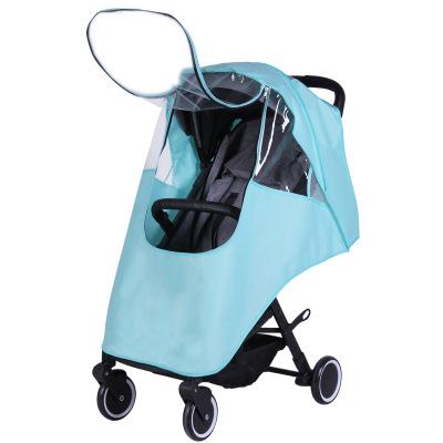 Xe đẩy trẻ em Xe đẩy em bé phổ thông che mưa xe đẩy kính chắn gió xe đẩy em bé ô che mưa che ấm áo t