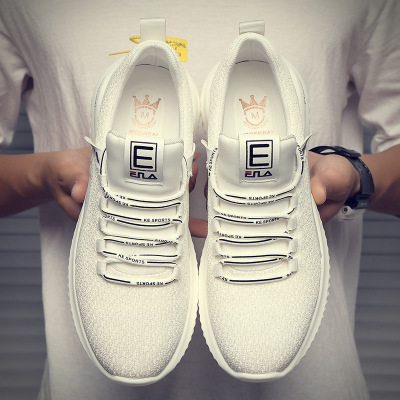 Giày trắng nữ Giày nam mùa hè Giày lưới thoáng khí Giày chạy phiên bản Hàn Quốc của xu hướng giày tr