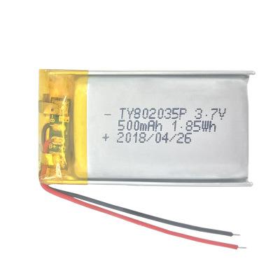Pin Lithium-ion 3.7v pin lithium nhà sản xuất pin lithium 802035 bút ghi âm Tai nghe Bluetooth pin l