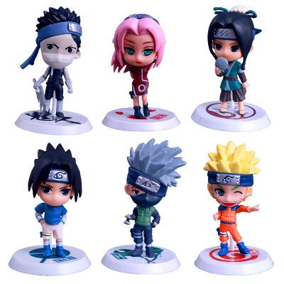 Đồ chơi hoạt hình Q phiên bản 18 thế hệ 6 đồ trang trí búp bê Naruto tay để làm anime Naruto xung qu