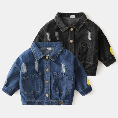 Trang phục Jean trẻ em Áo khoác trẻ em denim mùa thu quần áo trẻ em bán buôn phiên bản Hàn Quốc của