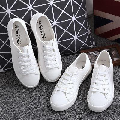 Giày trắng nữ Giày vải đế bệt cho nữ đế mềm đế mềm mới đế phẳng màu trắng