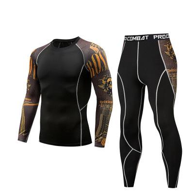 Đồ chống nắng mau khô Quần thể thao nam dài tay thể thao áo thun thể dục nam Quần áo nhanh khô siêu