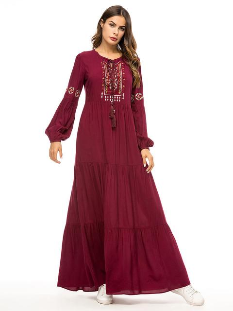 Quần Váy thêu chéo đơn giản độc quyền Áo choàng dài của người Hồi giáo