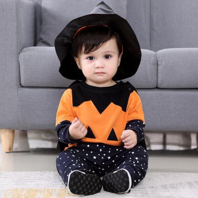 Đồ Suits trẻ em Xuyên biên giới bùng nổ trẻ em Hiệu suất Halloween quần áo bí ngô phù hợp với trẻ sơ