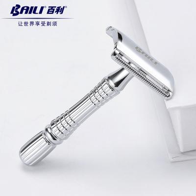 Dao cạo râu  Nhà máy trực tiếp BAILI Bailey chính hãng cổ điển hai mặt cổ điển dao cạo râu BT171 phi