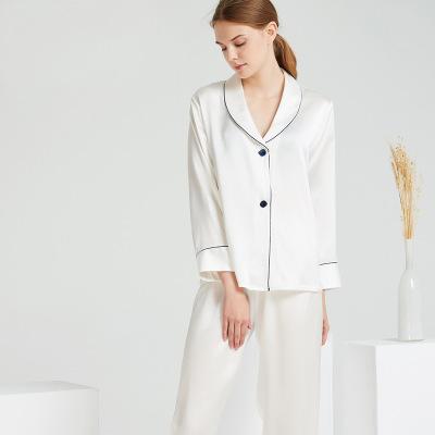 Đồ Suits Bộ đồ ngủ bằng lụa nặng 19 m mới đặt nữ 100% lụa nhà máy dịch vụ trực tiếp bán buôn nhãn