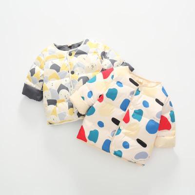 Áo khoác trẻ em Áo lót trẻ em mùa đông 2019 quần áo trẻ em mới trong chiếc áo khoác trẻ em màu trắng