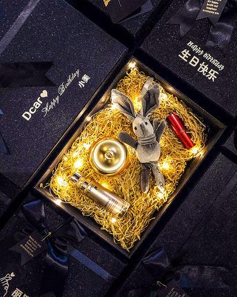 Gui Xier Hộp giấy bao bì Hộp quà tặng tùy chỉnh mạng rung đỏ hộp quà sinh nhật lớn đẹp in hộp quà tặ
