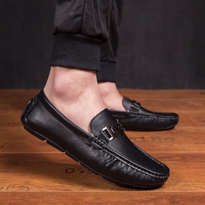 Giày mọi đế thấp Mùa xuân và mùa hè 2019 giày da nam mới xu hướng thời trang giản dị giày nam dành c
