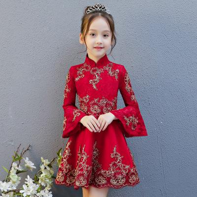 Trang phục dạ hôi trẻ em Váy bé gái công chúa đầm dài tay 2019 mới dễ thương sinh nhật cô gái dạ hội