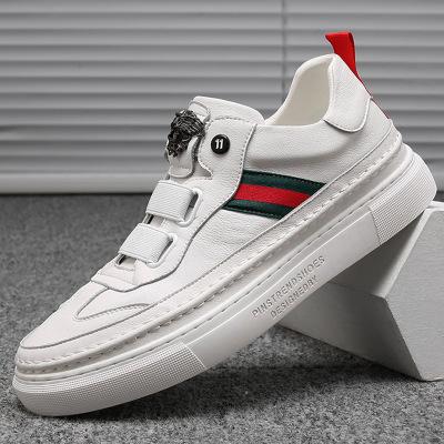 Giày Sneaker / Giày trượt ván Phiên bản Hàn Quốc mùa hè 2019 xu hướng giày da mới đặt chân giày trắn