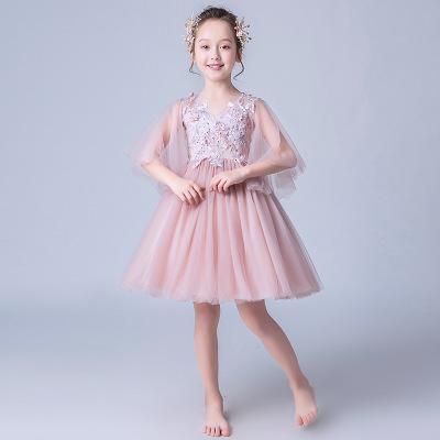 Trang phục dạ hôi trẻ em Mùa hè mới cô gái ăn mặc trẻ em lớn bữa tiệc sinh nhật piano biểu diễn Liuy